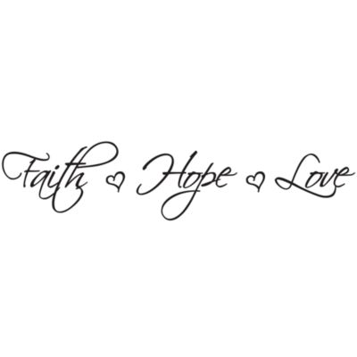 Faith Hope Love Vinyl Wall Decal Set