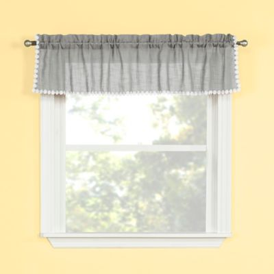 kitchen window valance cost of new cabinets buy silver bed bath beyond andrea in