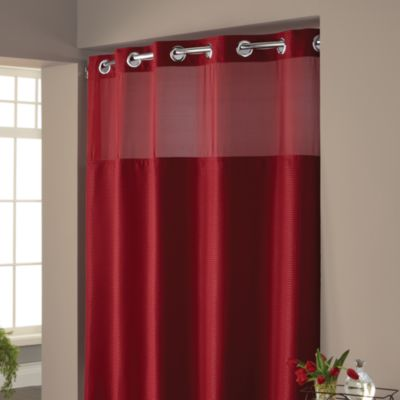 Hookless Waffle 71Inch x 74Inch Fabric Shower Curtain in Rio Red  Bed Bath  Beyond