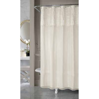 Nicole Miller Sparkle Fabric Shower Curtain Bed Bath & Beyond