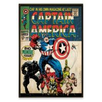 Captain America Marvel Comic Book Wall Dcor Plaque - Bed ...