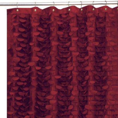 Gigi Burgundy 72 Inch X 72 Inch Fabric Shower Curtain Bed Bath