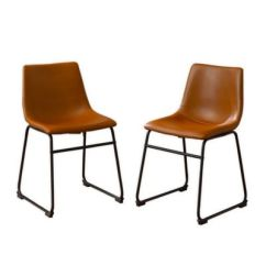 Faux Leather Dining Chairs Ergonomic Chair Buy Bed Bath Beyond Forest Gate In Whiskey Set Of 2