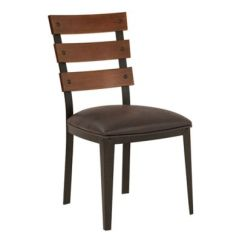 Leather Kitchen Chairs Kohls Patio 2 Buy Bed Bath Beyond Armen Living Saugus Faux Dining In Espresso Set Of