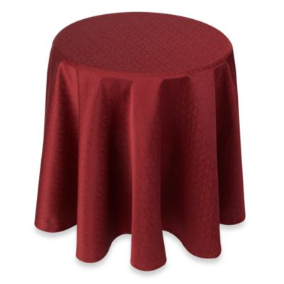 Buy Portman Wine 70Inch Round Table Topper from Bed Bath