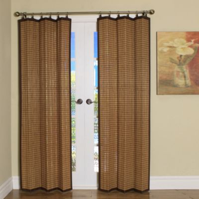 Easy Glide AllNatural Bamboo Ring Top Window Curtain