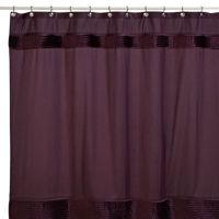 Willow 72-Inch x 72-Inch Fabric Shower Curtain in Plum ...