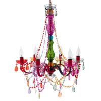 Gypsy Large 6-Light Chandelier Lamp in Multi-Color - Bed ...