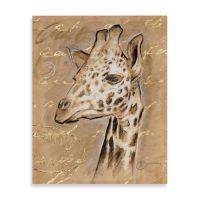 Buy Safari Giraffe Printed Canvas Wall Art from Bed Bath ...