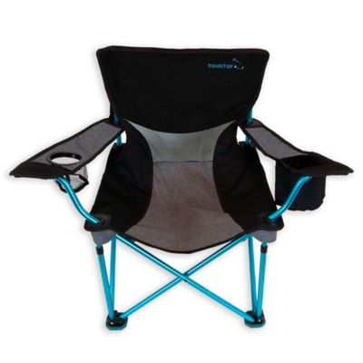 chairs in a bag brown chaise lounge chair buy folding bed bath beyond travelchair company french cut aluminum beach blue