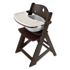 Keekaroo High Chair Charcoal Grey Covers Buy Bed Bath Beyond Height Right In Espresso With Infant Insert And Tray