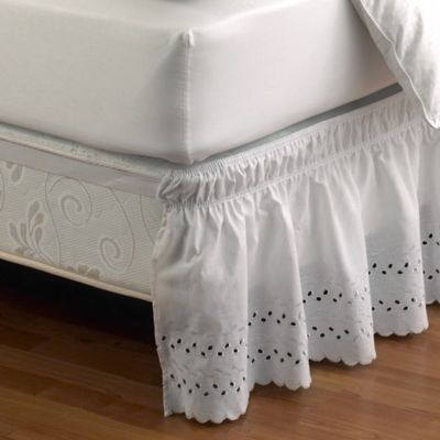 Ruffled Eyelet Bed Skirt  Bed Bath  Beyond