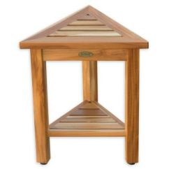 Teak Shower Chairs With Arms Fold Up Camping Buy Bath Stools Bed Beyond Flexicorner Modular Stool Shelf In Natural