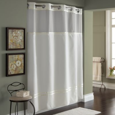 Hookless Escape 71Inch x 74Inch Fabric Shower Curtain