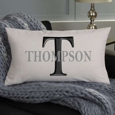 buy monogrammed pillow bed