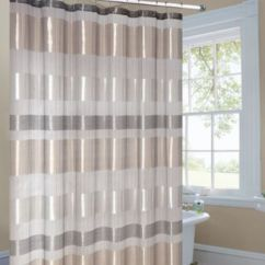 Brand New Kitchen Cost Island With Marble Top Metallic Striped Gold Fabric Shower Curtain - Bed Bath ...