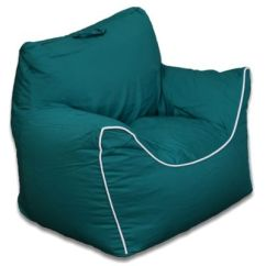 Teal Bean Bag Chair X Back Cushion Buy Chairs Bed Bath Beyond Acessentials Polyester Upholstered In Green