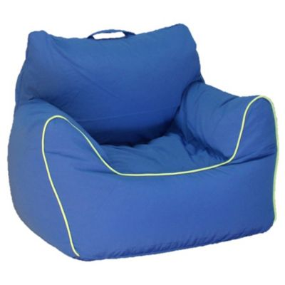 blue bean bag chairs wegner shell chair buy bed bath beyond acessentials polyester upholstered in