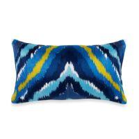 Trina Turk Trellis Chevron Oblong Toss Pillow in ...