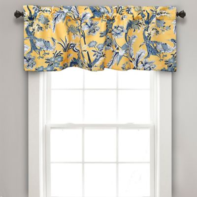 living room window valances sets las vegas buy bed bath beyond dolores darkening valance in yellow