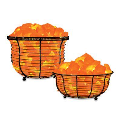 Himalayan Glow Ionic Crystal Salt Basket Lamp