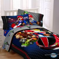 Super Mario Brothers Mario Kart Wii Comforter Set - Bed ...