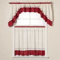 Buy Jayden Window Curtain Swag Valance in Red from Bed ...