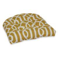 Buy Decorative U-Shaped Chair Cushion in Yellow Trellis ...
