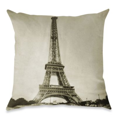 Eiffel Tower Square Throw Pillow  Bed Bath  Beyond