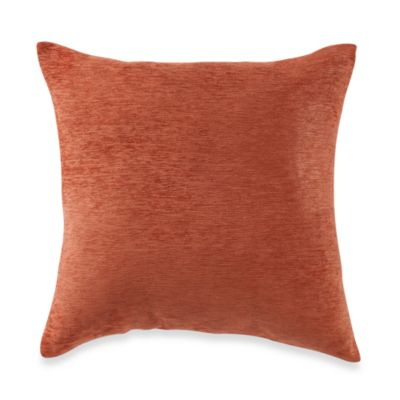 Buy Crown Chenille Throw Pillow in Rust Set of 2 from