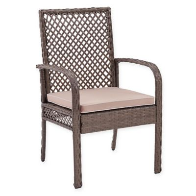 woven outdoor chair folding picnic chairs buy wicker furniture bed bath beyond crosley tribeca in driftwood set of 4