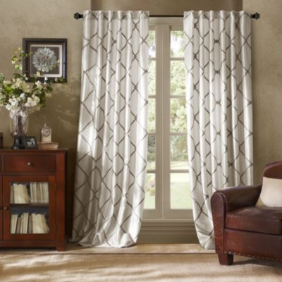 Bombay™ Garrison Rod Pocket Back Tab Window Curtain Panel Bed