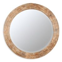 Cooper Classics Kettler Round Wood-Frame Mirror - Bed Bath ...