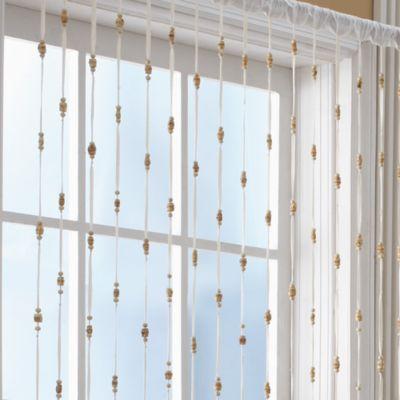 Croscill Bamboo Bead Jewelry Window Curtain Panel  Bed Bath  Beyond