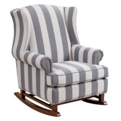 Abbyson Living Thatcher Fabric Rocking Chair In Beige Wood Frame Beach Chairs Gliders Rockers Recliners Buybuy Baby Chelsie Rocker Blue Stripe