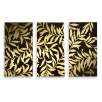 Buy Gold Leaves Panel Wall Art (Set of 3) from Bed Bath ...