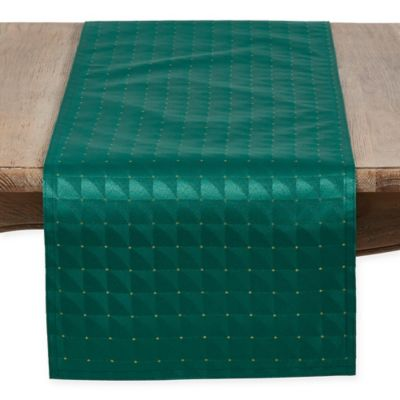 buy green table runners