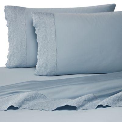 Wamsutta 400 Thread Count Lace Hem Sheet Set 100 Cotton