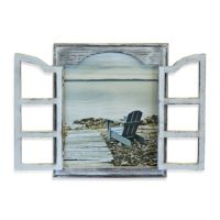 Beach Window Chair Wall Art
