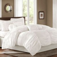 Buy Sidney Queen 7-Piece Comforter Set in White from Bed ...