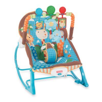 FisherPrice Blue Animals Infant to Toddler Rocker