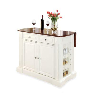 crosley kitchen islands washable rugs for buy furniture hardwood drop-leaf breakfast bar ...