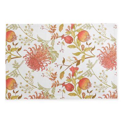 pomegranate floral placemats set