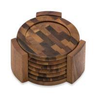 Buy Lipper International Acacia Coasters (Set of 6) from ...