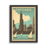 Buy Americanflat Chicago Magnificent Mile Framed Wall Art ...