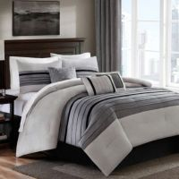Dylan 6-7 Piece Comforter Set in Grey - Bed Bath & Beyond