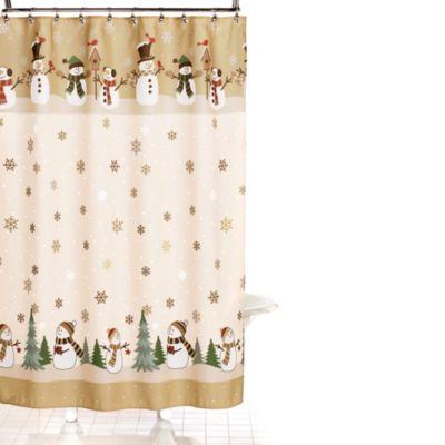 Heartland Snowman Shower Curtain