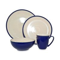 Buy Denby Dine 4-Piece Dinnerware Set in Royal Blue from ...