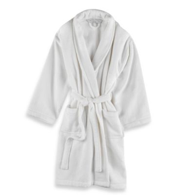 Wamsutta Unisex Terry Bathrobe in White  Bed Bath  Beyond