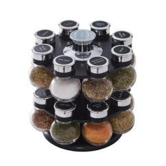 Revolving Spice Racks For Kitchen Ash Cabinets 12 Jars Rack